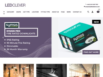 LEDClever website design